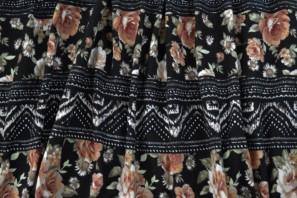 Boho floral cotton lycra
