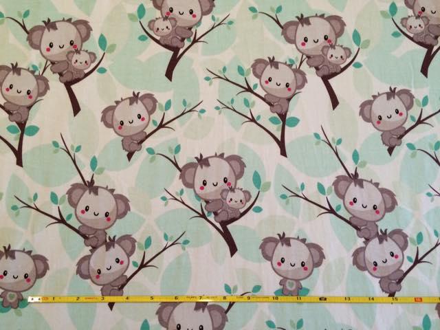 Koala custom fabric