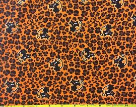 Halloween Leopard Cats on Orange